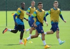 In Training: Arsenal's Forward Line Looking Tasty